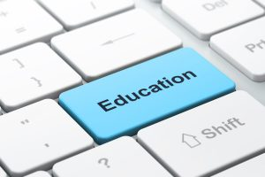 education_blue_key_on_keyboard