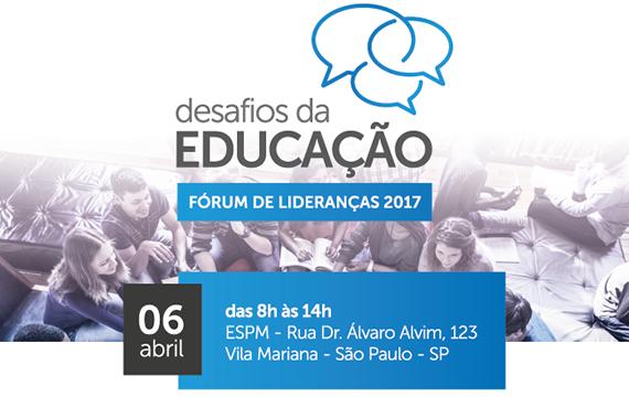 O Fórum de Lideranças: Desafios da Educação está chegando, prepare-se!