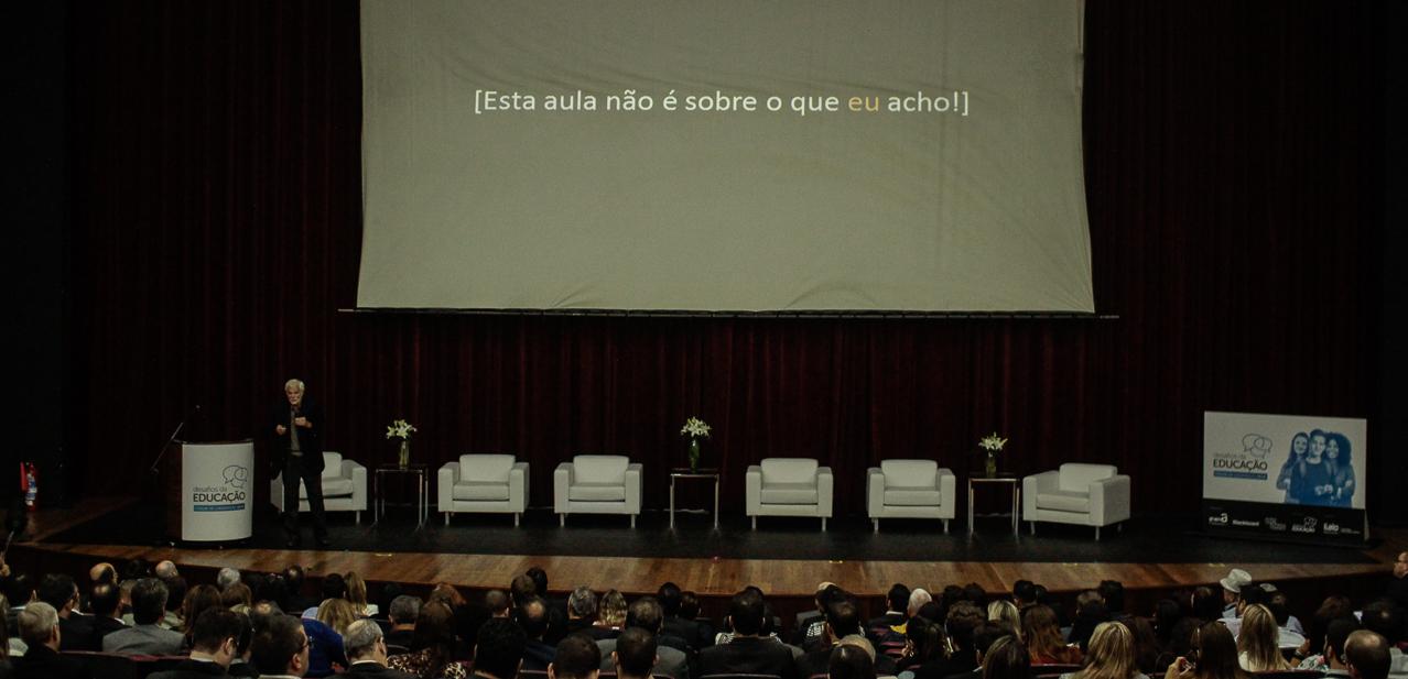 Claudio de Moura Castro, no Fórum de Lideranças: Desafios da Educação 2018