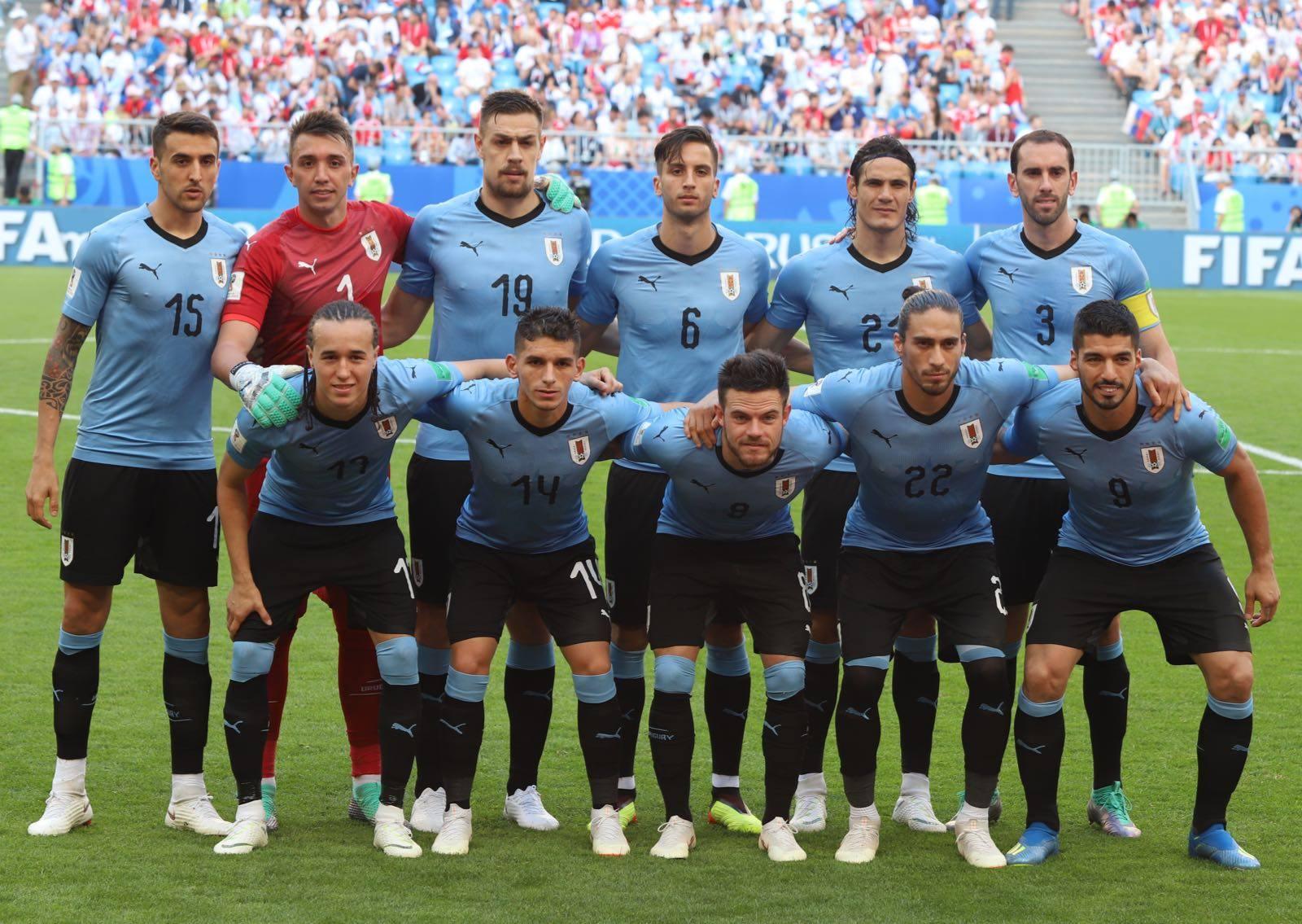 Seleção do Uruguai, antes de partida pela Copa da Rússia