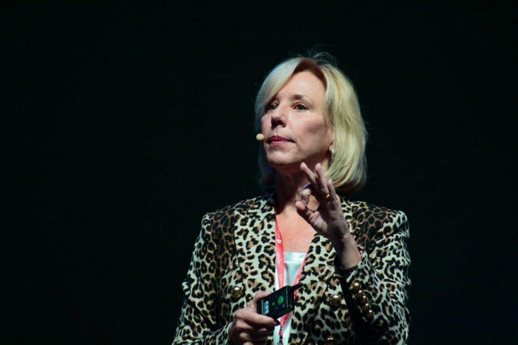 Stefanie Lindquist, vice-reitora da Arizona State University (Foto: Guilherme Veloso/Fnesp)