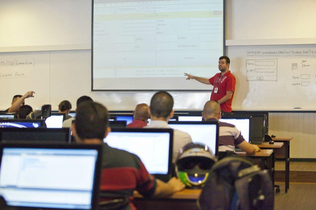 Sala da aula da Uniítalo, em São Paulo. Crédito: divulgação.