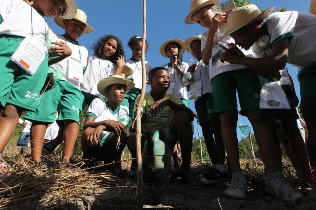 Estudantes de escolas rurais na Bahia. Crédito: Fotos públicas.