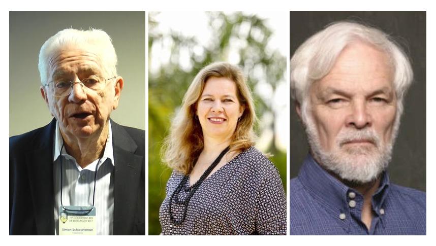 Simon Schwartzman, Lilian Bacich e Claudio de Moura Castro. Crédito: Reprodução.