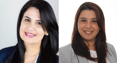 Thuinie Daros (à esquerda) e Katia Coelho. Crédito: Reprodução.