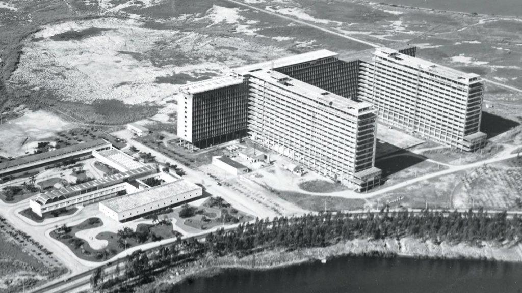 Campi em construção da UFRJ, em 1968. Crédito: Correio da Manhã/Arquivo Nacional