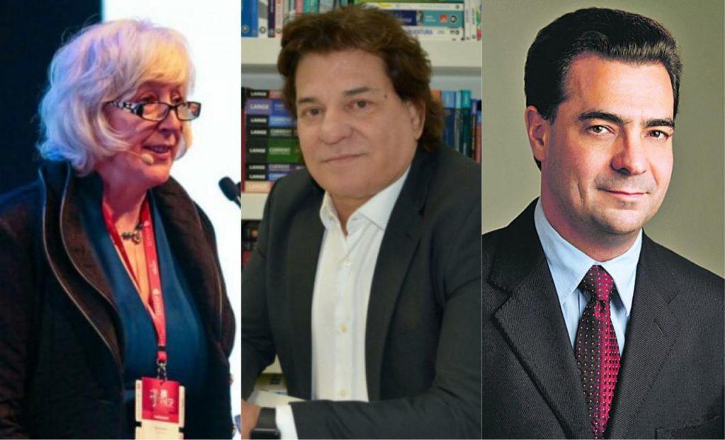 Liz McMillen, Rui Fava e Ryon Braga: especialistas analisam potencial do Google Career Certificates. Montagem: Desafios da Educação, com fotos de divulgação.