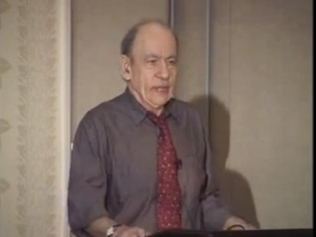 Barak Rosenshine em conferência no ano de 2002. Crédito: Reprodução.