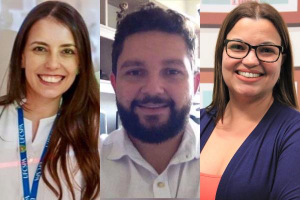 Juliana Trevisan da Rocha, Lucas Abreu e Renata Cristina Souza.