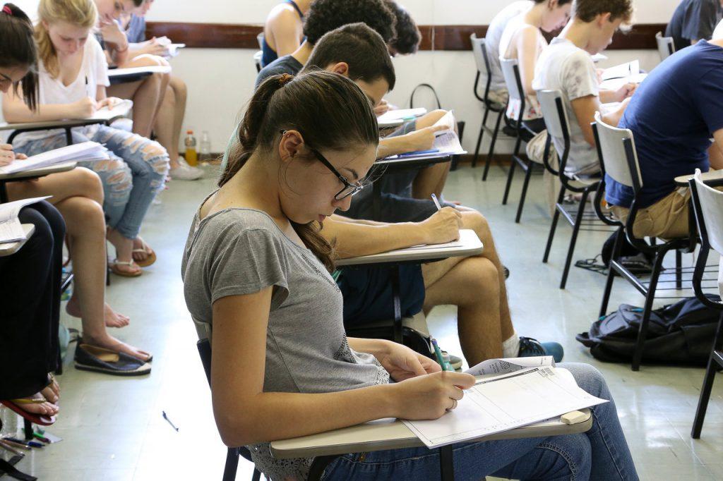 No retorno às aulas presencias, as universidades podem utilizar ferramentas tecnológicas para complementar a carga horária. Crédito: Marcos Santos/USP imagens.