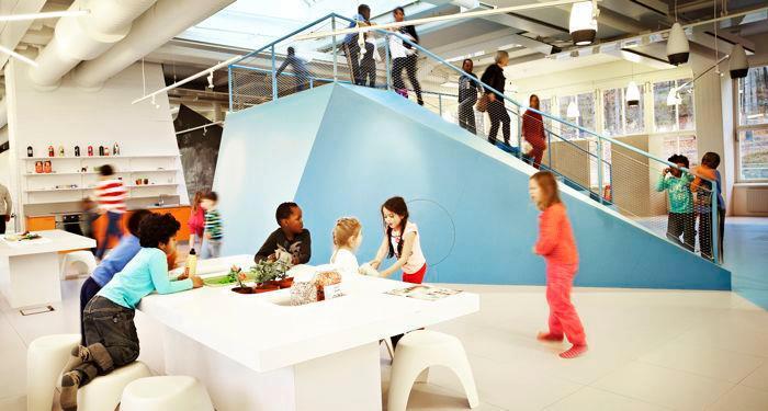 Vittra Telefonplan: projeto arquitetônico de escola na Suécia mostra que design também é ferramenta de aprendizagem. Crédito: divulgação.